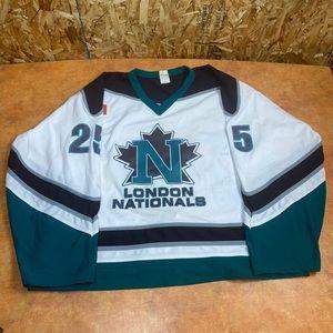 Vintage London nationals hockey jersey game worn